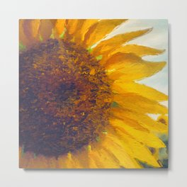 Sunflower Field In Late Summer Metal Print