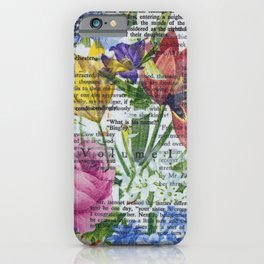 Flowery Prose iPhone Case