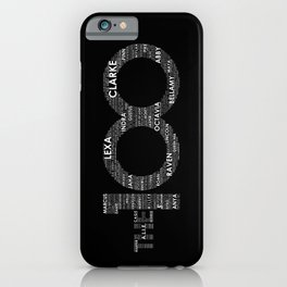 The 100 - Typography Art [white text] iPhone Case