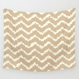 Ragged Chevron - Taupe/Cream Wall Tapestry