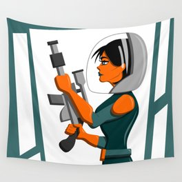 Spacewoman Wall Tapestry