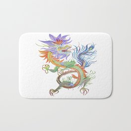 Bright and Vivid Chinese Fire Dragon Vector Bath Mat