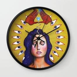 Entering The Mysteries Wall Clock
