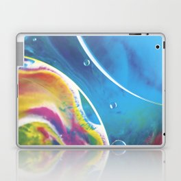 Blue yellow abstract Laptop & iPad Skin