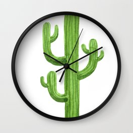 Cactus One Wall Clock