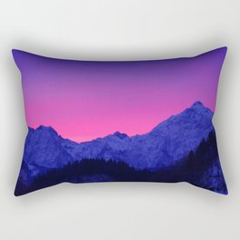Dawn in Mountains Rectangular Pillow