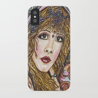 stevie nicks iPhone & iPod Cases featuring BLAME IT ON MY WILD HEART, STEVIE NICKS by Dream A Little Designs