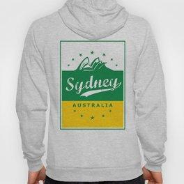 Sydney City, Australia, green yellow, poster Hoody