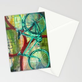 Green Bike Stationery Cards