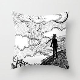 Facing the Wind Throw Pillow