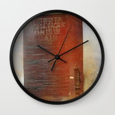 A simple red barn           (To all my American friends I wish you a very good 4 July ) Wall Clock