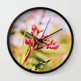 Oleander Wall Clock