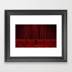 'RED CURTAIN CALL' Framed Art Print