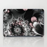 novelty iPad Cases featuring Widow's Web Fractal by Moody Muse