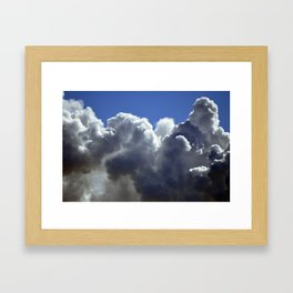 Brewing in the sky Framed Art Print
