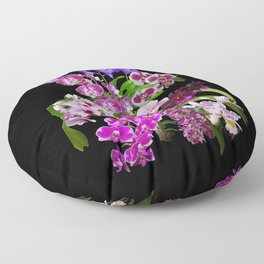 Orchids - Cool colors! Floor Pillow