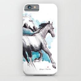 Horses (Mom&kid) iPhone Case
