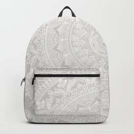 Mandala Soft Gray Backpack
