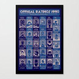 Official Ratings 1990 Canvas Print
