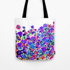 Flower Fields Blue Tote Bag