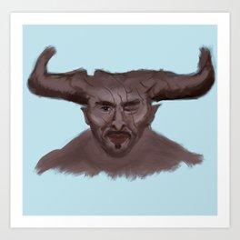 Sweet Bull Art Print
