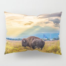 The Great American Bison Pillow Sham