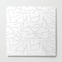 BOBBY PINS ((calm gray)) Metal Print