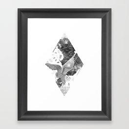 OWL MAP Framed Art Print