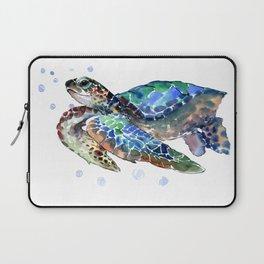 Sea Turtle, Green Blue, sea turtle under water, sky blue Laptop Sleeve