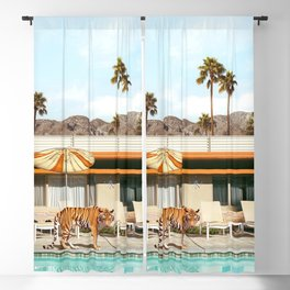 Pool Party Tiger Blackout Curtain
