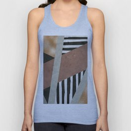 Abstract Geometric Composition in Copper, Brown, Black Unisex Tank Top