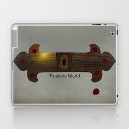 Treasure Island Minimal Poster Laptop & iPad Skin
