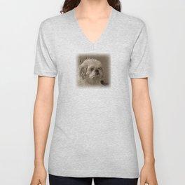 Denali - Loyal Lap-Dog Unisex V-Neck