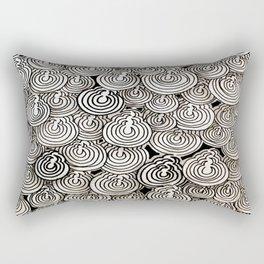Flying Popcorns Rectangular Pillow