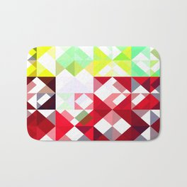 Mixed Color Poinsettias 2 Abstract Triangles 1 Bath Mat