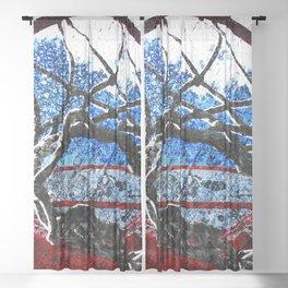 Basketball artwork swoosh vs 8 Sheer Curtain