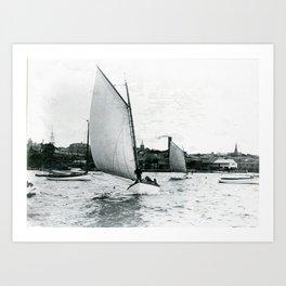 Newport Harbor, Newport, Rhode Island Art Print