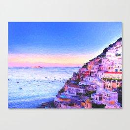 Twilight Over Positano, Italy Canvas Print
