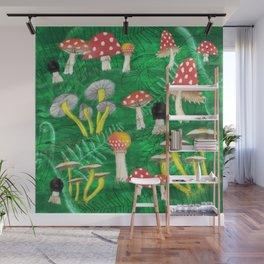 Mushroom Party Wall Mural