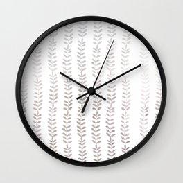 Silver leaf trellis Wall Clock