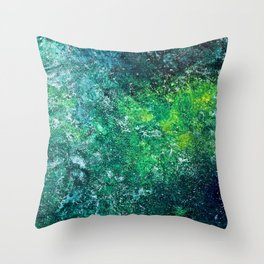 Color Fields: Mermaid Grotto Throw Pillow