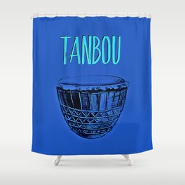 Tanbou(blue) Shower Curtain