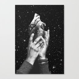 Heart says hold on Canvas Print