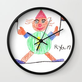 Race Clown Wall Clock