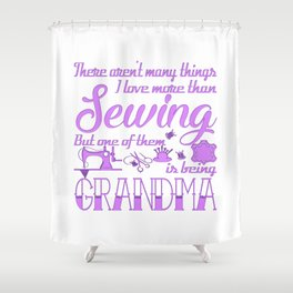 Sewing Grandma Shower Curtain
