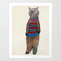 kitten Art Prints featuring kitten  by bri.buckley