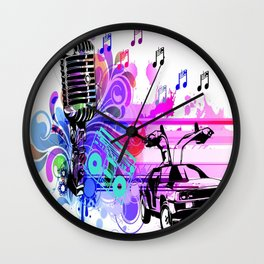The Mic Wall Clock