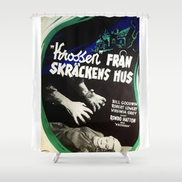 House of Horrors, vintage horror movie poster,  Krossen, Fran Skrackens Hus Shower Curtain