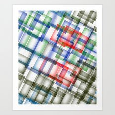 Done Deal digital pattern Art Print