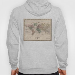 Vintage Map of The World (1833) Hoody